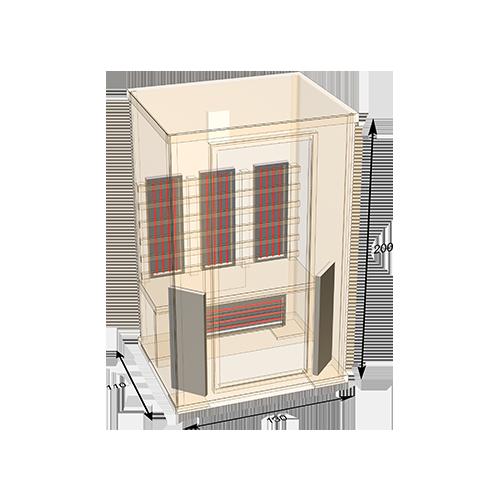 sauna-130 plattegrond