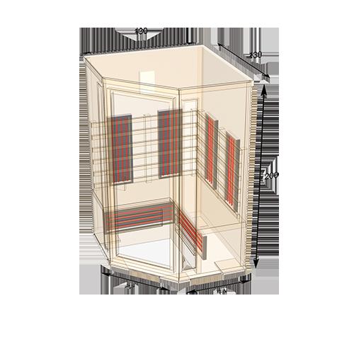 sauna-130C plattegrond
