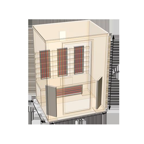sauna-150 plattegrond