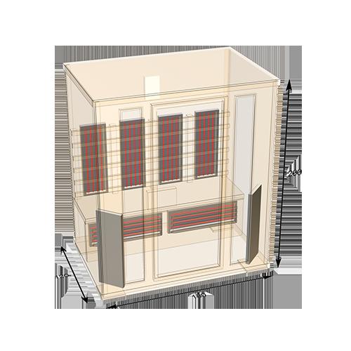 sauna-180 plattegrond