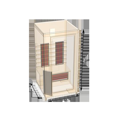 sauna-90 plattegrond